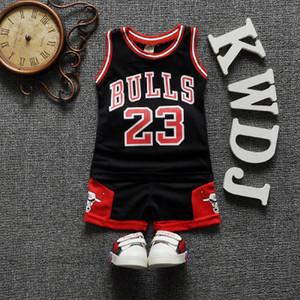 boğalar erkek eşofman yaz bebek erkek giysileri LY191227 infantil yelek + şort 2 adet çocuk spor kıyafetleri erkek basketbol Conjunto set yazdırmak