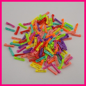 "100PCS 2.2cm 0.85"" Mini Colorful Plain Plastic Pin Back suitable to brooches, 22mm plastic safety pins,plastic badge pin backs"