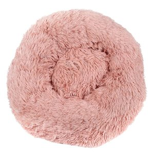 Long Plush Super Soft Pet Bed Kennel Dog Round Cat Four Seasons Warm Sleeping Bag Puppy Cushion Mat Portable Cat Supplies