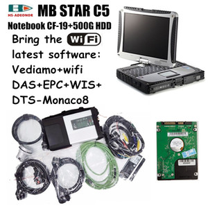 2020 OBD 2 Connector MB STAR C5 and Military Laptop CF19 with the latest software support WIFI and HHT car diagnostic tools