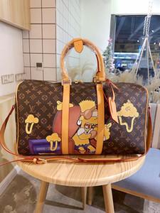 Şık lüks tasarımcı seyahat bagaj çantası 2020 yüksek kalite deri tasarımcısı crossbody çanta deri tasarımcısı çanta 45cm