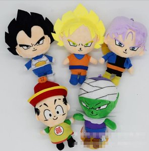 5 Styles 18cm Dragon Ball Z Peluche Jouets Bande Dessinée Kuririn Vegeta Goku Gohan Piccolo Beerus Poupées En Peluche jouets pour enfants Cadeaux jouet en peluche