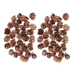 60 조각 미니 장식 된 pinecone 파인 콘 된 pinecone 크리스마스 트리 토핑 꽃병 볼 필러를 표시 공예 홈 장식