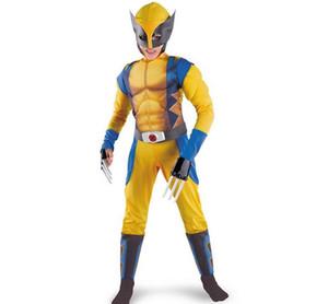 TPRPCO Boys X-man Logan Origins Marvel Halloween Костюмы Детский Карнавал Производительность Партия Косплей Одежда N212