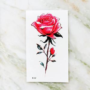 Les autocollants sexuels de manches d'art du corps de tatouage hommes de tatouages temporaires imperméables main faux rose fille fleur TATUAJES temporales