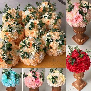 Rosequeen de fleurs artificielles Mariages fleur boule pour la table Décoration Centerpieces route plomb fleurs Accueil Décoration Fleurs
