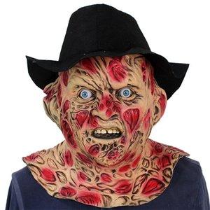 Fahsion Marke Freddy Krueger Cosplay Maske Handschuhe Halloween-Albtraum Straße Kostüm Latex Kopfbedeckung Maske Skin Mask