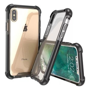 Super Shockproof Clear Case iphone Flash shell For Iphone Xs Max 6 7 8 plus Iphone X TPU Phone Shell Transparent Cover MPS26