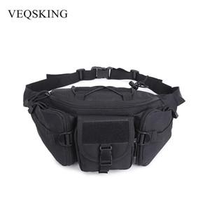 VEQSKING Tactical Waist Bag Nuevos paquetes de cadera Bolsa al aire libre Impermeable Sistema Molle Bolsa Cinturón Bolsas deportivas Equipo