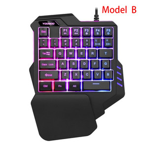 Wired Single-Handed Gaming Keyboard Single Hand Keyboard Mechanical Feel Game Keyboard for Mobile Tablet Laptop PUBG Game