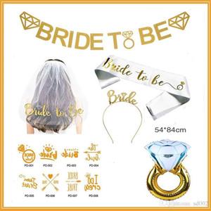 Braut Braut sein Kopfschmuck Anzug Bachelorette Party Hochzeit Karneval Party Anzüge Lieferungen Metall Head Hoop Schultergurt 22Hz A1