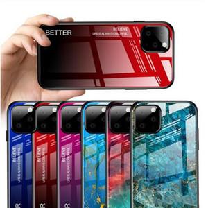Gradiente Caso de mármore do telefone para o iPhone novo iPhone 11 11Pro 11Pro Max vidro temperado rígido híbrido Case Cover For X XS Max