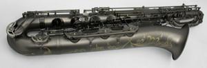 YANAGISAWA 새로운 품질의 황동 바리톤 색소폰 블랙 니켈 도금 E 플랫 악세사리 색소폰 무료 배송