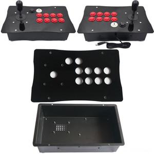 DIY American Style Arcade Luta Controladores vara Joystick jogo Metal Joysticks Acessórios Caso Jogo e acrílico Painel Big Size