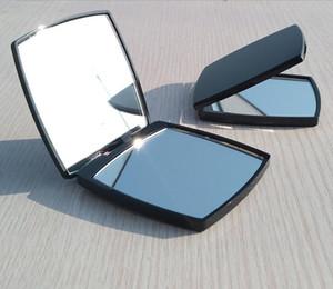 Мода компактные роскошные косметические зеркала мини ручное зеркало красота макияж инструмент туалетный портативный складной фасетка двойное зеркало