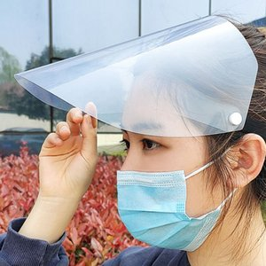 Reusable Safety Face Shield Transparent Protective Isolation Sheild Anti-saliva Windproof Dustproof Full Face Cover Hat For Men And Women
