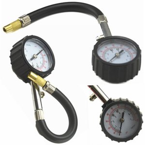Tire Alarm Universal Auto Car Air Tire Pressure Inflator Gauge Car Truck Motorcycle Flexible Hose Pressure Gauge Dial Meter Vehicle Tester