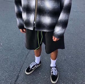 hot selling Ask washed vintage green Drawstring shorts cotton yurself Casual Breathable Street Skateboard shorts pants top quality