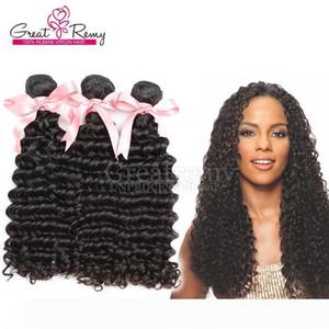 """8""""~30"""" Top Brazilian Virgin Hair Bundles 3PCS LOT Double Weft Human Hair Extension Unprocessed Natural Color Deep Wave Hair Weave"""
