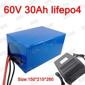 GTK Lithium 60V 30Ah Lifepo4 Batterie mit BMS Deep Cycle für 2500W 1500W Fahrrad Roller Dreirad Go Cart Fahrzeug + 5A Ladegerät