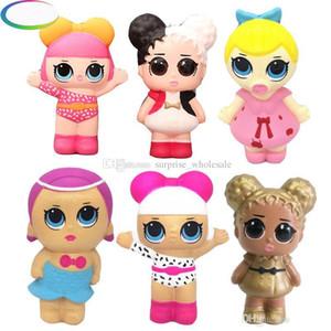 14 * 9CM squishy LoL Dolls with feeding bottle 미국 PVC Kawaii 어린이 장난감 애니메이션 액션 피규어 어린이 장난감을위한 현실적인 Reborn Dolls