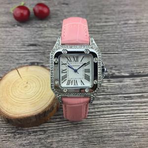 32mm múltiples diamante nueva señora reloj de lujo mujer de lujo de alta calidad rosa oro diamante diseñador de moda relojes vestido relojes de pulsera Reloj