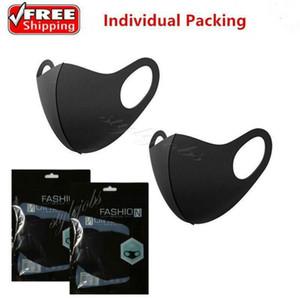 Tasarımcı Moda Yıkanabilir Koruyucu Yüz Maskeleri Siyah Pamuk Yeniden kullanılabilir Yetişkin Çocuk Karşıtı Toz Bisiklet Ağız Çocuk Bezi Maskeleri FY9041 Maske