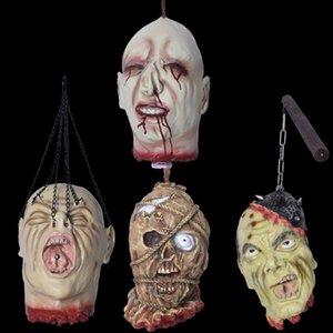 Lattice sanguinante Broken Head fantasma Simulazione capo Haunted House Escape Tricky Horror giocattolo Hanging Halloween Party Props Decorazione