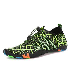 Rojo oscuro aqua zapatos zapatos de verano mujer de los hombres transpirable zapatillas de deporte de adultos playa Zapatillas Zapatos Upstream Piscina calcetines de buceo