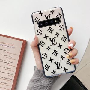 Designer Phone Cases pour Samsung S20 S20 S10 plus S20Ultra cas pour Samsung S10E S8 S9 avec silicone translucide couverture de téléphone