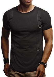 Bekleidung Mens-Sommer-Designer-T-Shirt mit Rundhalsausschnitt kurze Hülsen-Flecken-Dekoration Homme Kleidung Teenager Tees Lässige