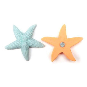 Wholesale Colorful Magnetic DIY Jewelry 3D Resin Fridge Magnet Starfish sea collection