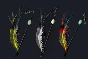 # 5555 Luya weiche leuchtende Garnele bionische gefälschte Köder 3pcs leuchtende Köderfische Tintenfisch Köder Blackfish