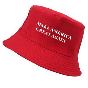 Travel Fisherman Bucket Hats Make America Great Again Women Men Flat Top Wide Brim Summer Cap For Outdoor Sports Visor