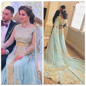 2019 sans manches A-line Prom robes inde avec broderie or perlé occasion spéciale robes de soirée robes de soirée personnalisées robe de soirée