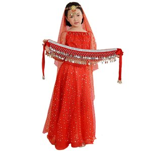 Girls Belly Dance Costumes Kids Belly Dancing Girls Bollywood  Performance Dancewear Children Oriental Dance Clothing Set
