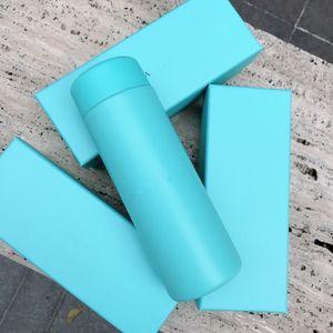 Klasik mavi drinkware termos 200 ml bayan termos hediye kutusu ile kaliteli T mavi fincan kaliteli