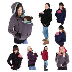 Maternidad capucha lactancia materna ropa de invierno 3 en 1 Babywearing Coats Maternity Embarazo capa multifuncional canguro Ropa suéter