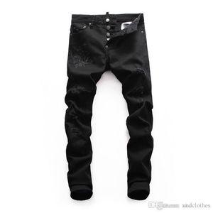 20 Tide brand slim micro-elastic personality male jeans wild fashion casual mens pants classic jeans de designer pour hommes