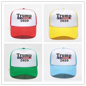 Trump 2020 Шляпы Встроенная сетка Лоскутная Snapback Женские Мужские Бейсбольный мяч Cap Регулируемая Летняя Visor Открытый гольф Спорт Caps D22404