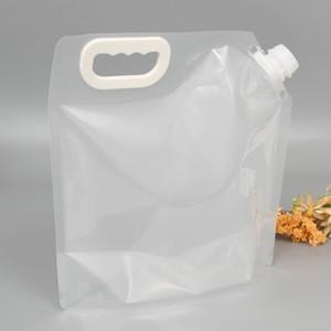 Dobrável Água Bag Outdoor Sports Camping Caminhadas Juice Storage Bags Picnic Leite Vinho Recipiente de levantamento do portador yq01397