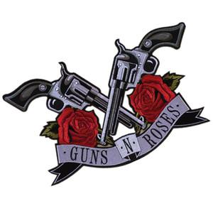 PGY GUN Rose Flor Applique Roupa bordado patch Tecido Etiqueta Iron On Sew On patch para vestuário DIY Big Biker Parches
