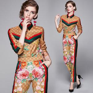 Бутик девушка набор рубашка + брюки с длинным рукавом женщины из двух частей набор 2020 весна осень наборы темперамент пр костюмы