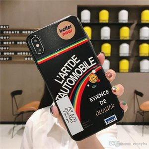 Good Luxury designer Fashion Cartoon Color Back Cover Funny Letter Quote Soft Phone Case Fundas For iPhone 11 Pro XR X XS Max 7 8 Plus cover