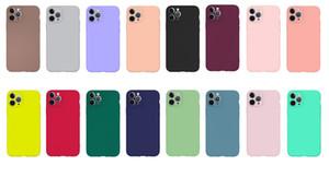Coloré souple TPU pour iPhone 11 Pro MAX XR 6.1 XS MAX 6.5 X XS 8 7 6 6S Matte Slim Ultra Thin Retour Gel ordinaire Luxe Téléphone Couverture Coque