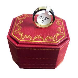 Gli amanti di nozze di titanio anello in acciaio per le donne di lusso Zirconia anelli di fidanzamento uomini Regali gioielli e accessori di moda