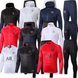 NUEVO fútbol de la calidad 2019 2020 Mbappé PSG para hombre del chándal chaqueta de chándal PSG 19 20 fija el juego de fútbol de entrenamiento CAVANI