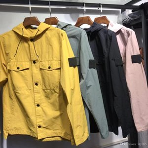Homens mulheres marca designer tendência primavera outono algodão bolso jaquetas blouson jaqueta camionista jaqueta com capuz frete grátis