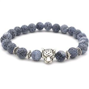 Leopard Head Natural Stone Agate Bracelet women bracelets mens bracelets Fashion jewelry will and sandy gift