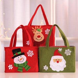 Weihnachtsgeschenk Weihnachtsweihnachtsmann-Schneemann-Geschenk-Süßigkeit Tasche Strumpf Weihnachtsbaum-Party Home Decor Weihnachtsbeutel navidad